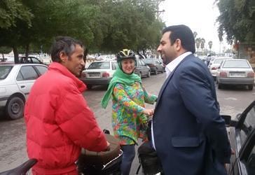 استقبال از زوج جهانگرد ایرانی در اهواز