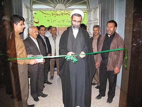 افتتاحیه نمایشگاه خوشنویسی استاد ابراهیم غفوری با حضور امام جمعه