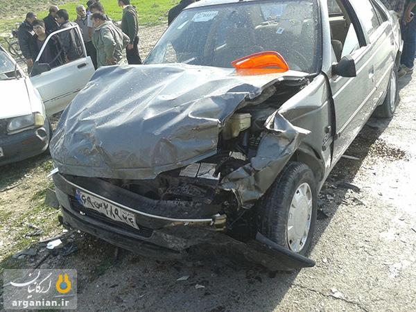 صانحه رانندگی در جاده سیمان بهبهان / 9 بهمن 1393